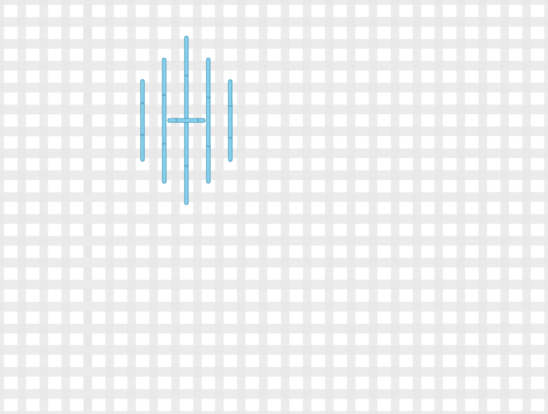 Tied pavilion stitch method stage 4 illustration