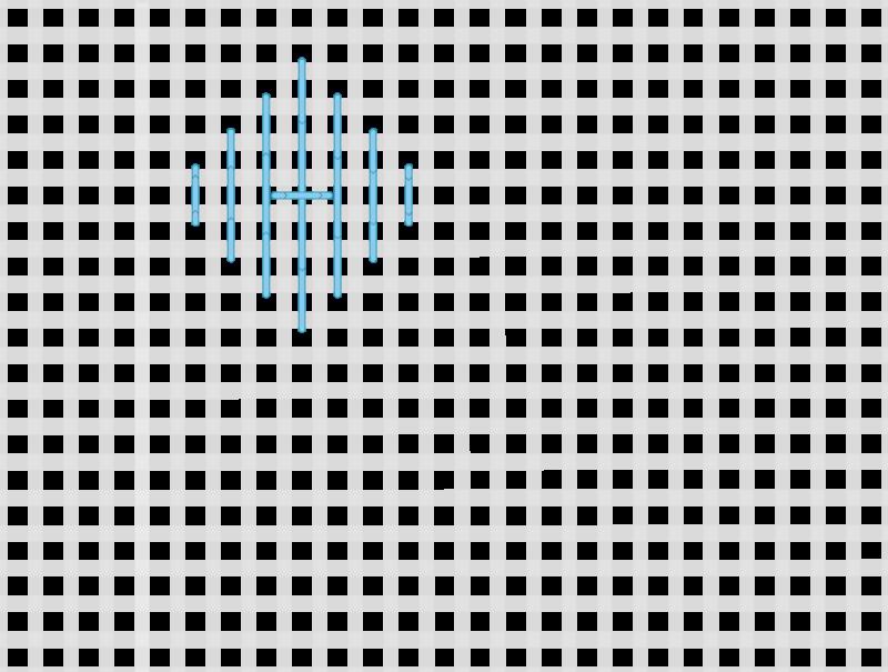 Tied pavilion stitch method stage 5 illustration