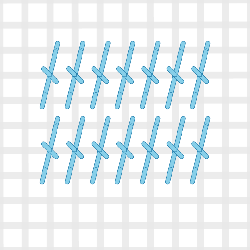 Tied Gobelin stitch method stage 4 illustration