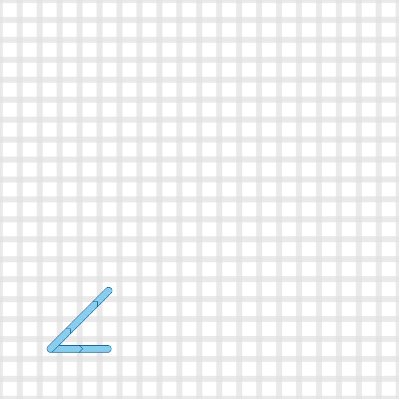 Two-sided Italian cross stitch method stage 1 illustration