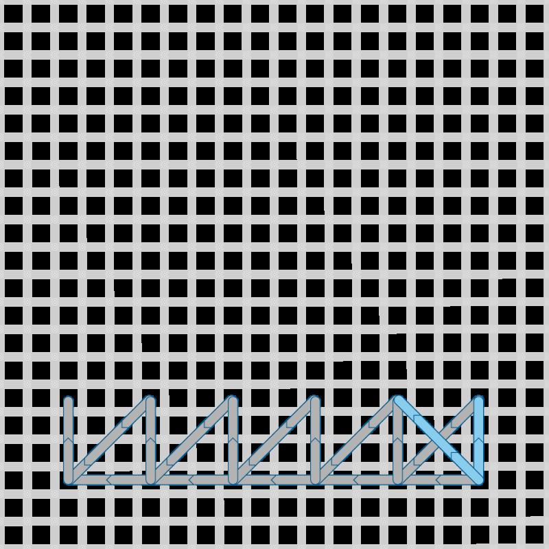 Two-sided Italian cross stitch method stage 12 illustration