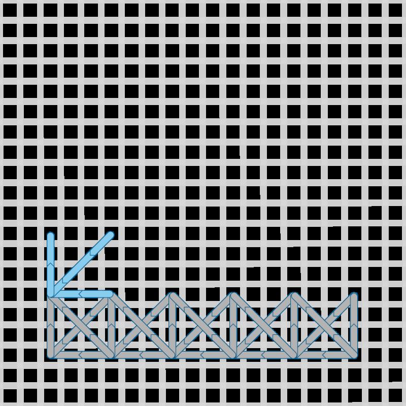 Two-sided Italian cross stitch method stage 14 illustration