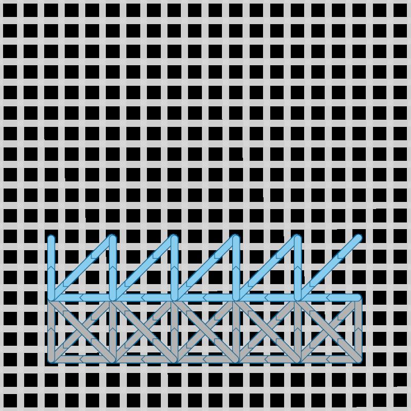 Two-sided Italian cross stitch method stage 15 illustration