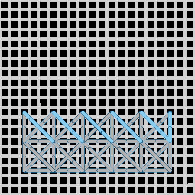 Two-sided Italian cross stitch method stage 16 illustration
