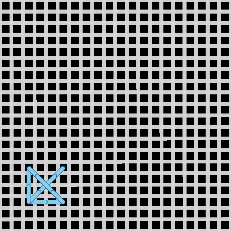 Two-sided Italian cross stitch method stage 3 illustration