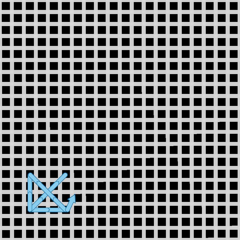 Two-sided Italian cross stitch method stage 4 illustration
