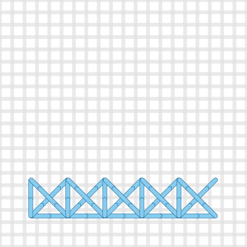 Two-sided Italian cross stitch method stage 5 illustration