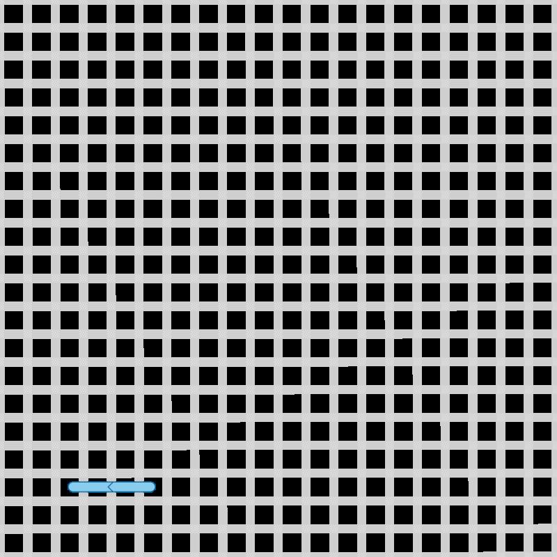 Two-sided Italian cross stitch method stage 6 illustration
