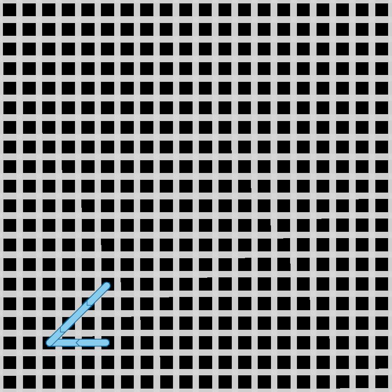 Two-sided Italian cross stitch method stage 7 illustration