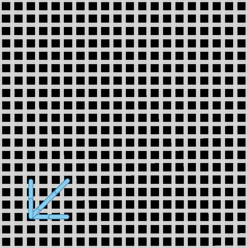 Two-sided Italian cross stitch method stage 8 illustration