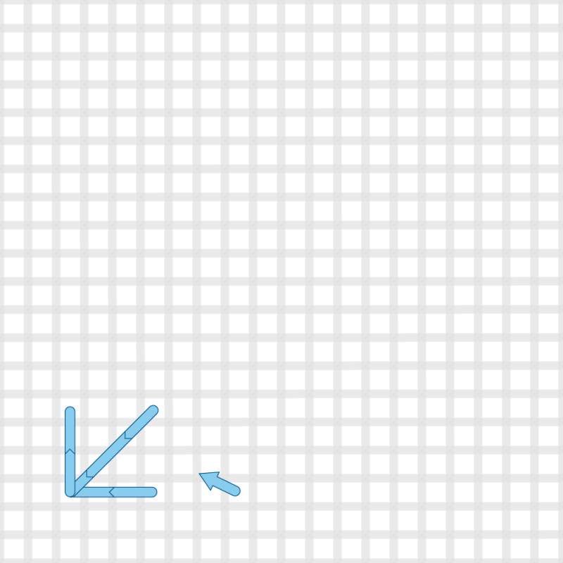 Two-sided Italian cross stitch method stage 9 illustration