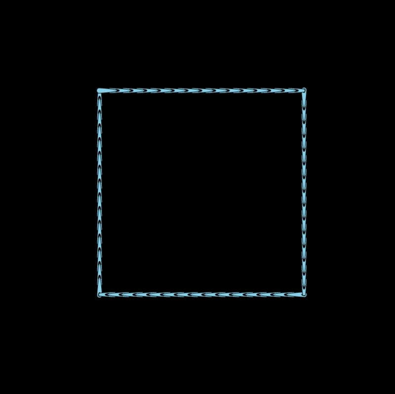 Satin stitch method stage 1 illustration