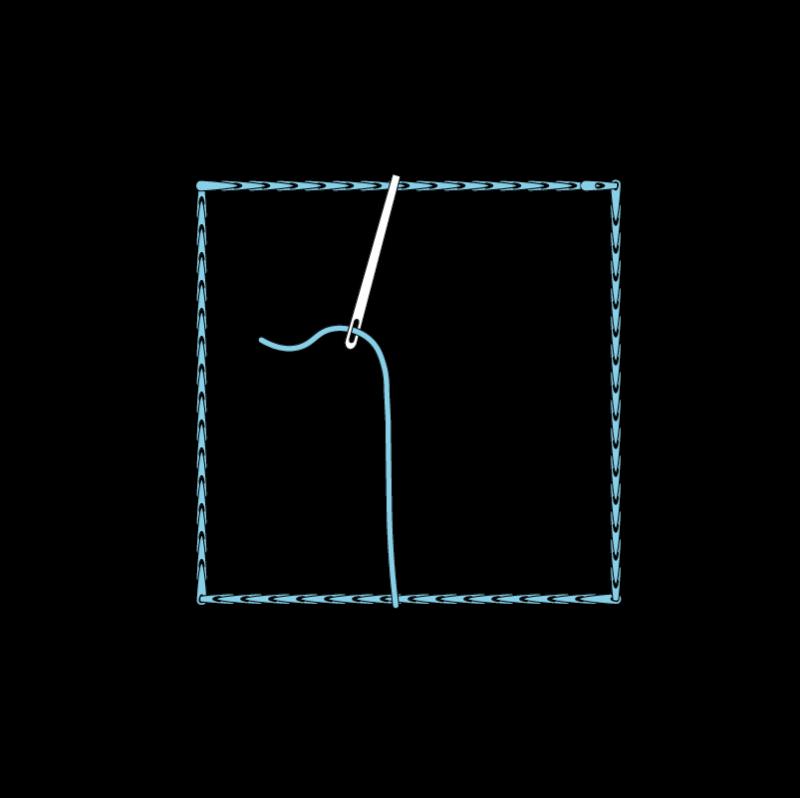 Satin stitch method stage 2 illustration