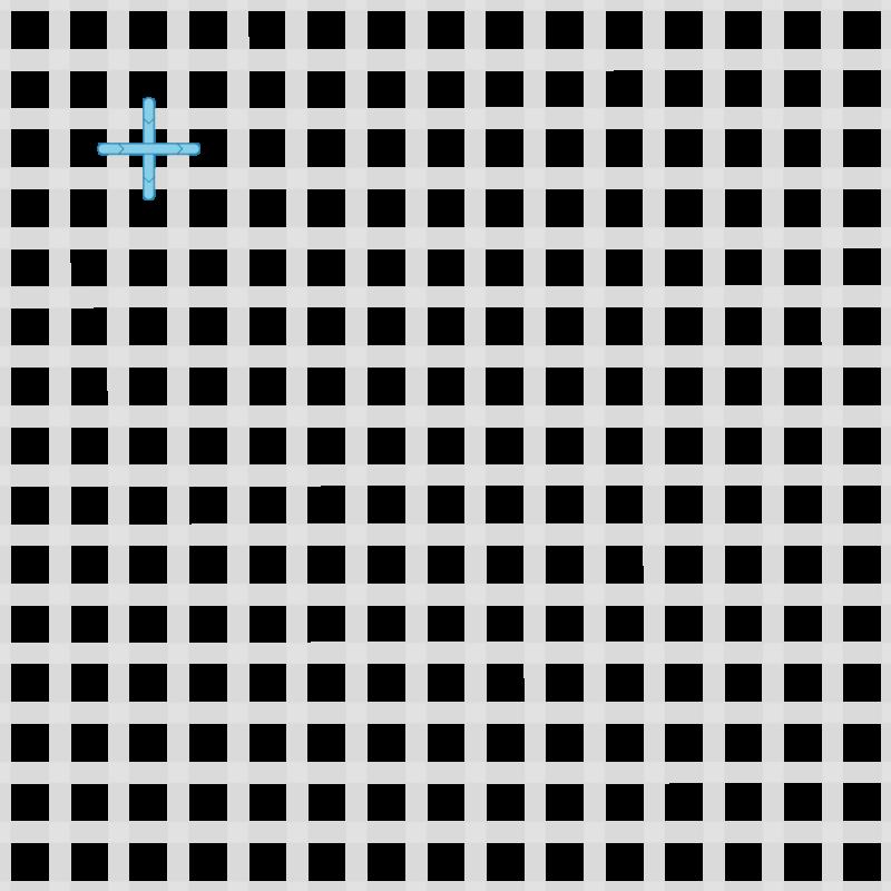 Upright cross stitch method stage 1 illustration