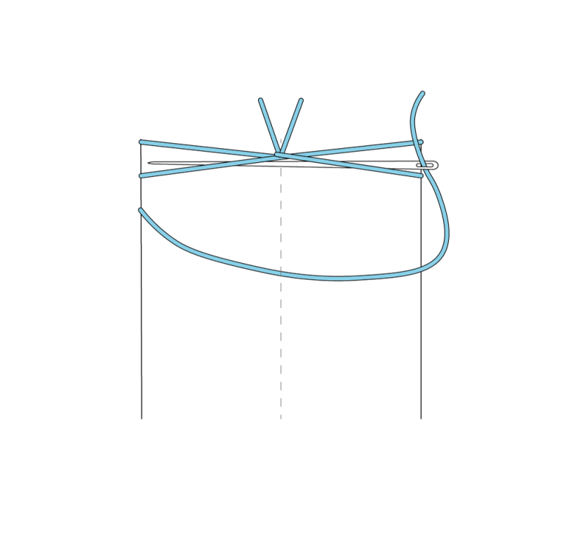 Van Dyke stitch method stage 7 illustration