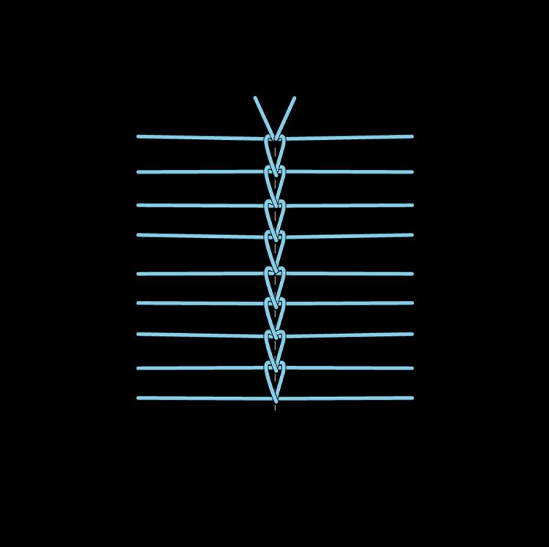 Van Dyke stitch method stage 10 illustration