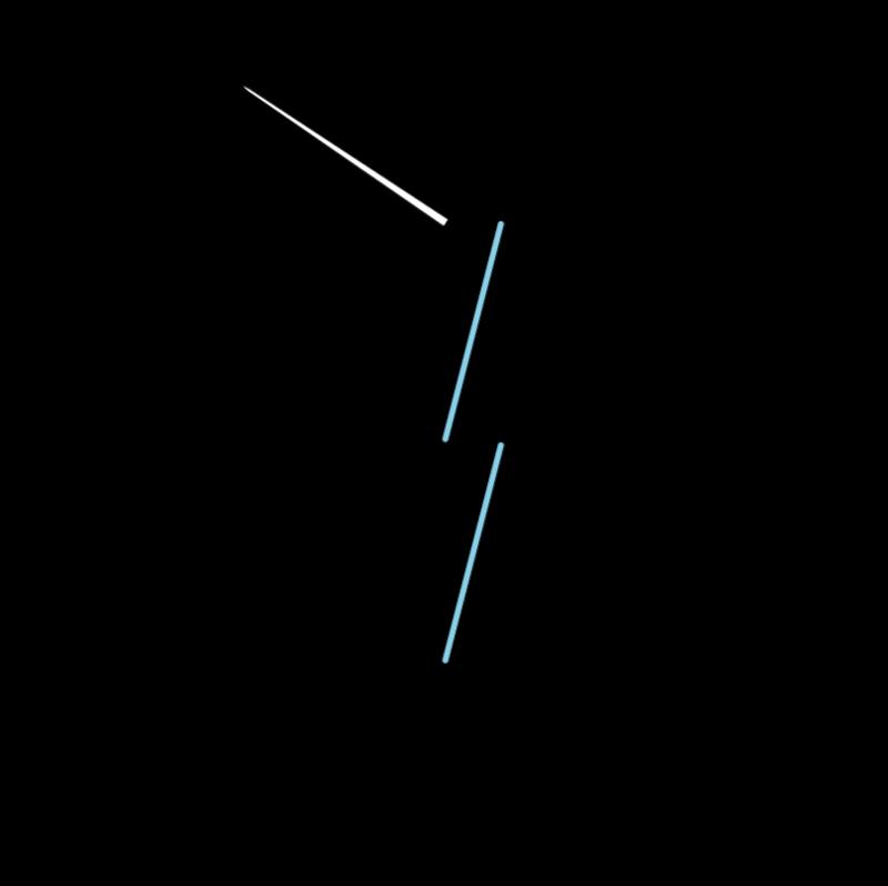 Whip stitch method stage 2 illustration