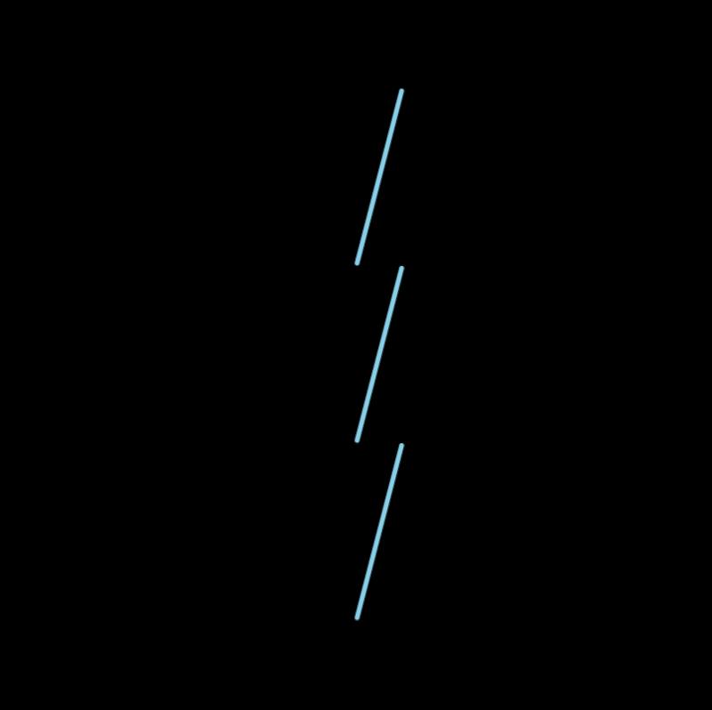 Whip stitch method stage 3 illustration