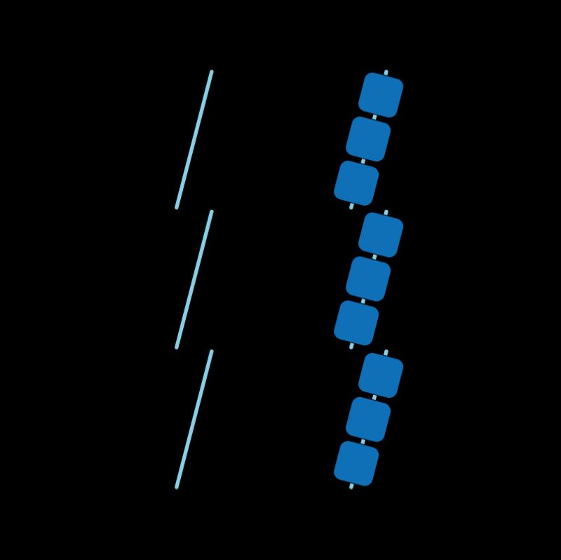 Whip stitch method stage 4 illustration