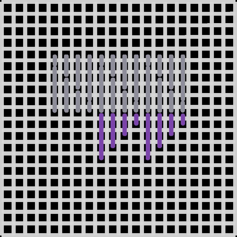 Wild goose chase stitch  method stage 3 illustration