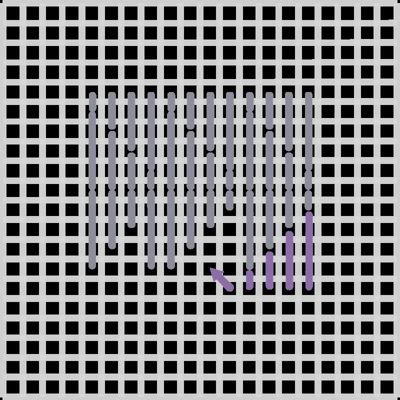 Wild goose chase stitch  method stage 4 illustration