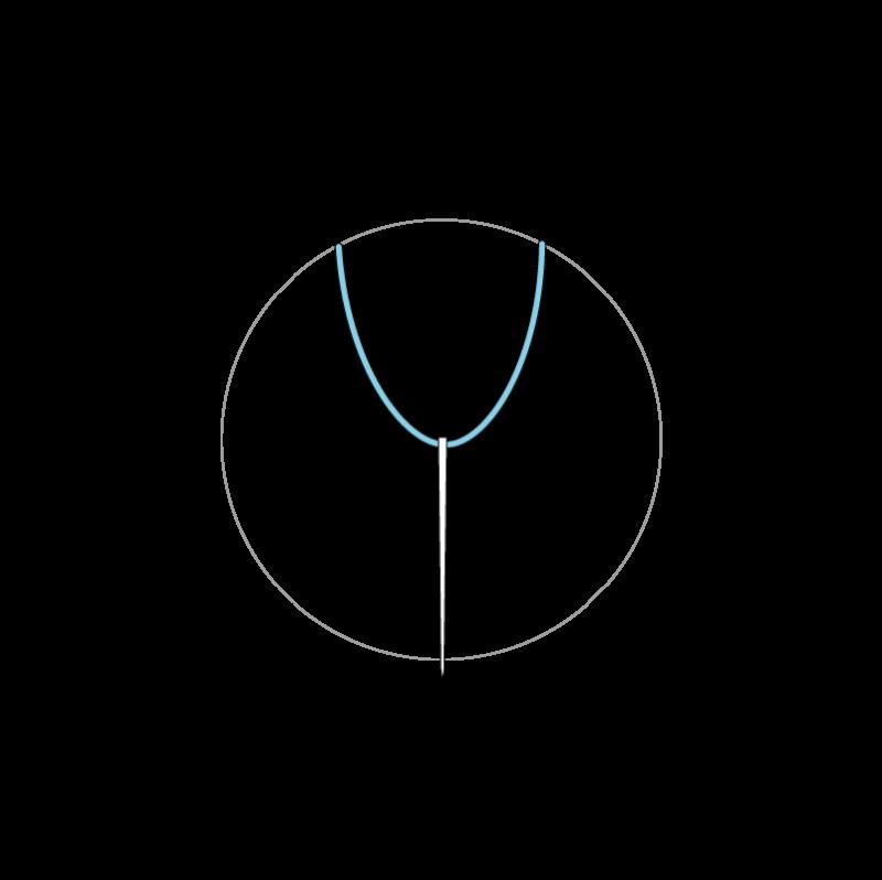 Woven wheel method stage 2 illustration