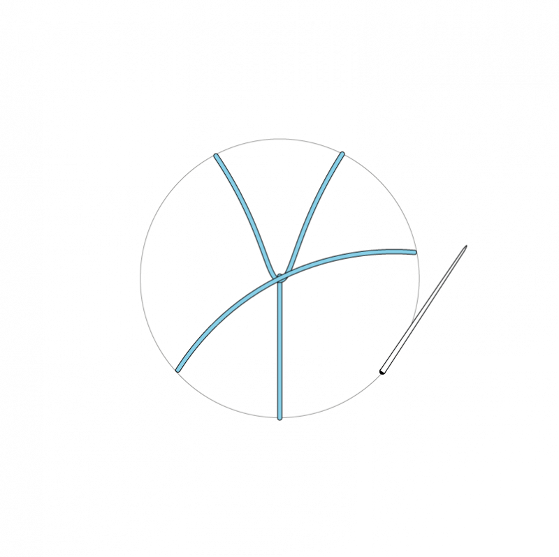 Woven wheel method stage 4 illustration