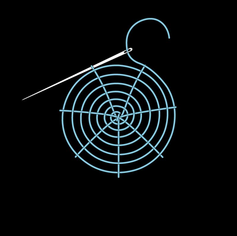 Woven wheel method stage 9 illustration
