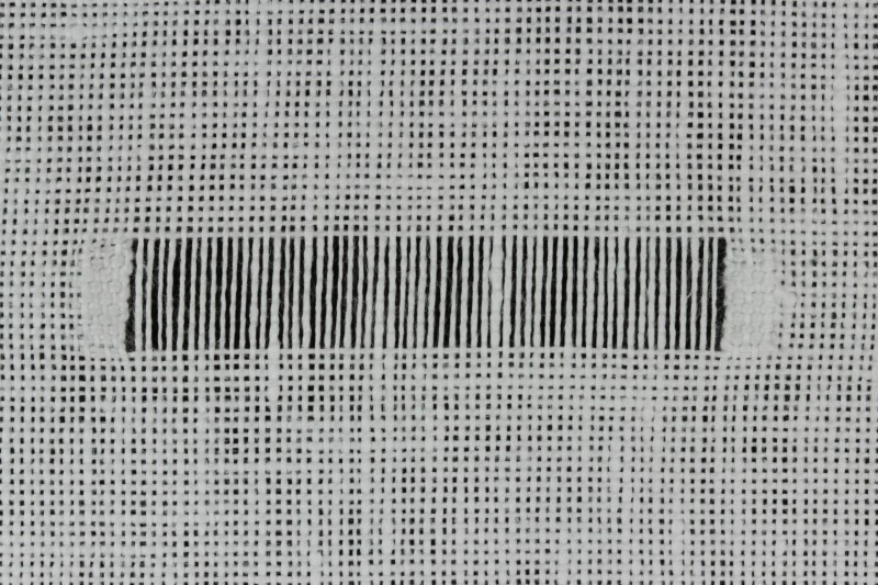 Wrapped bars (drawn thread) method stage 1 photograph